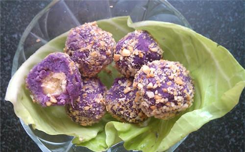 【2020】沙琪玛紫薯球的做法