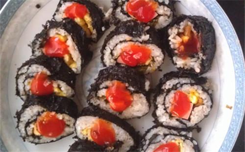 【2020】芝麻甜辣蛋腿寿司的做法