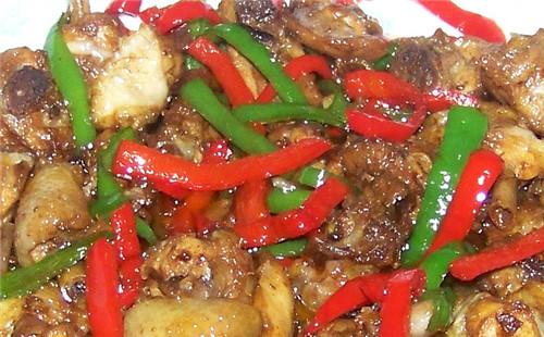 双椒小炒鸡的做法