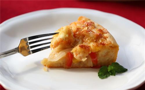 木鱼花虾仁披萨的做法