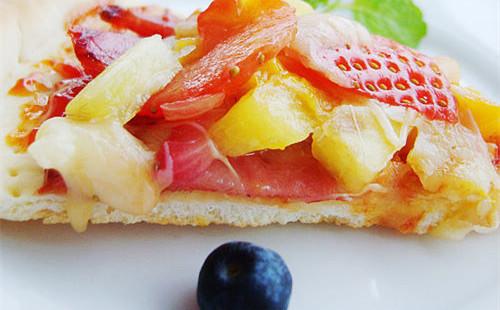 清新水果披萨的做法