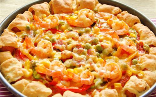 缤纷卷边披萨的做法