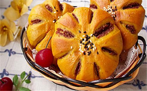 【2020】枸杞红豆沙面包的做法