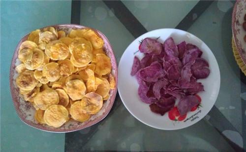 红薯紫薯片的做法